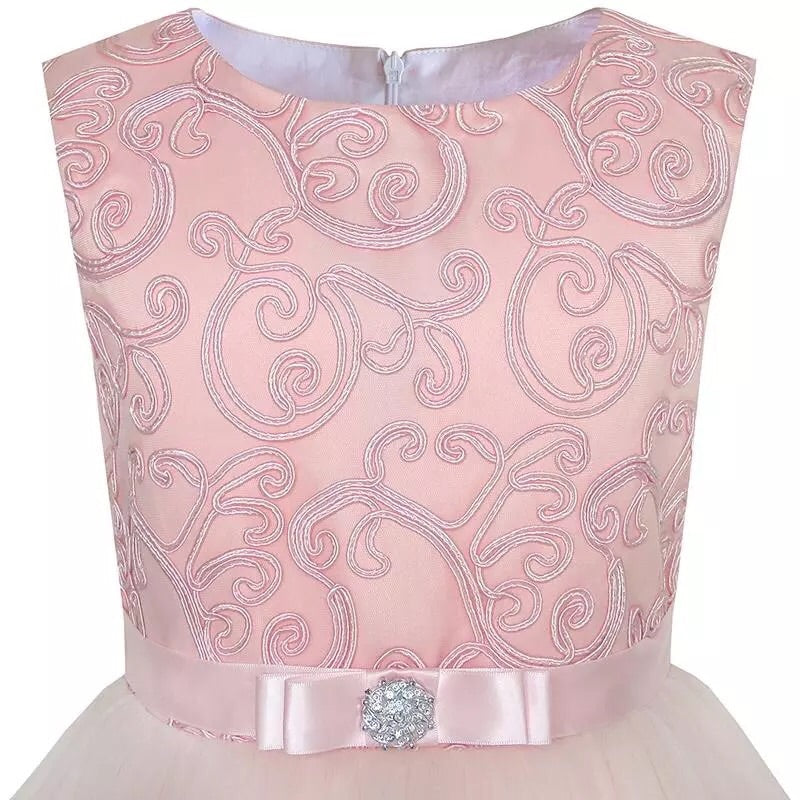 Blush belted dress ( 4-7 years)