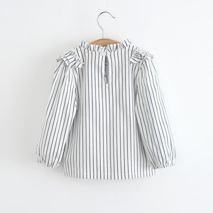 Pinstripe shirt with black pinafore dress ( 24 months - 7 years)