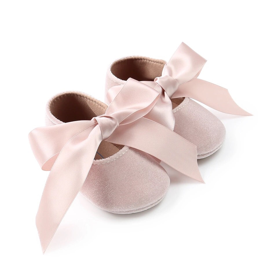Velvet ribbon shoes (0-18 months)