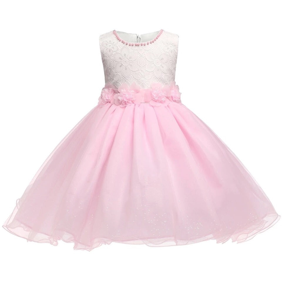 Pink and white princess style dress (3-7 years)