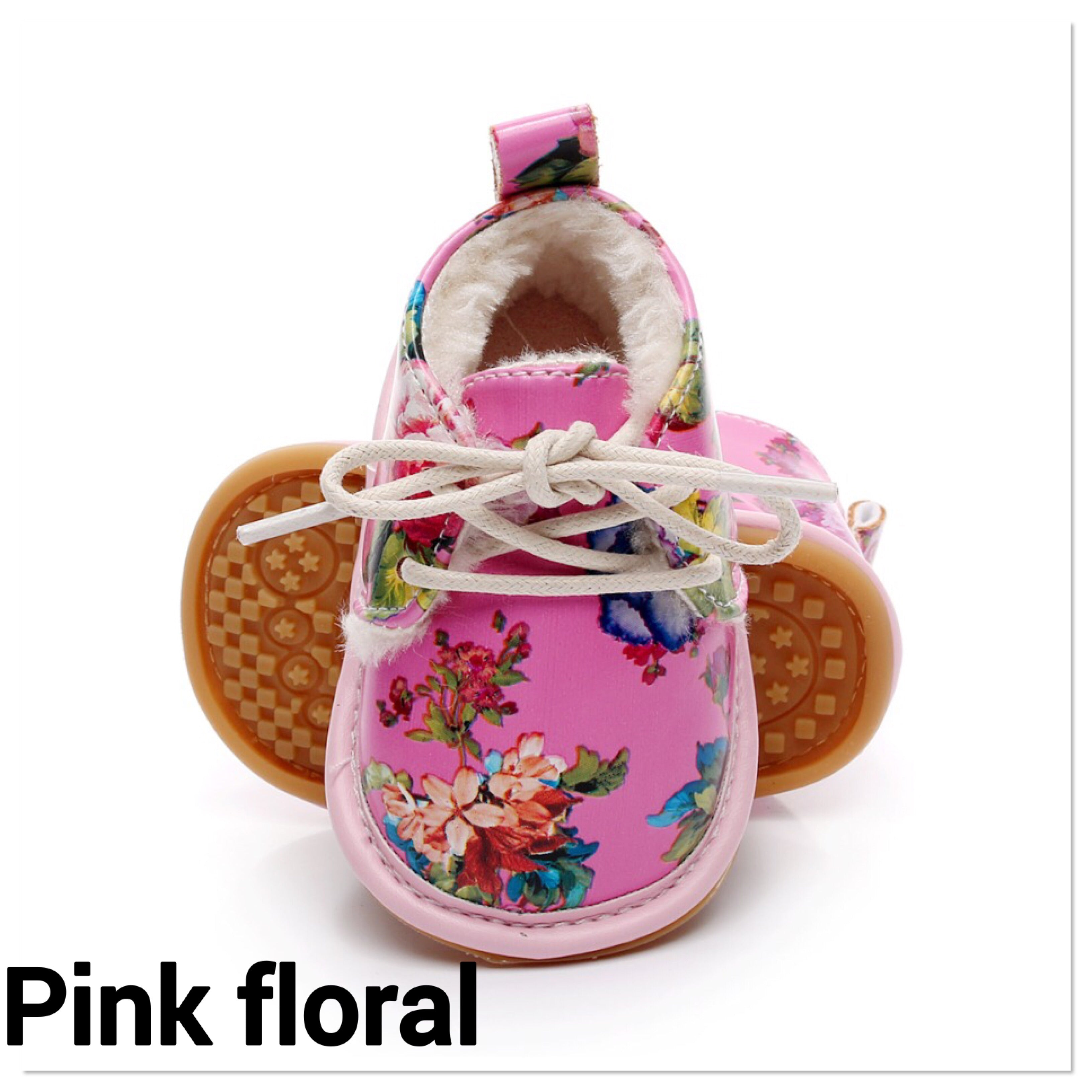 Soft lined lace up shoes (0-24 months)