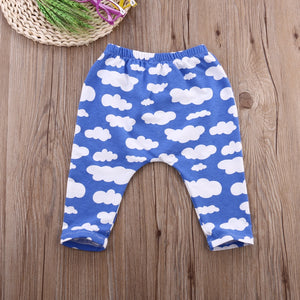 Cloud print trousers (0-24 months)