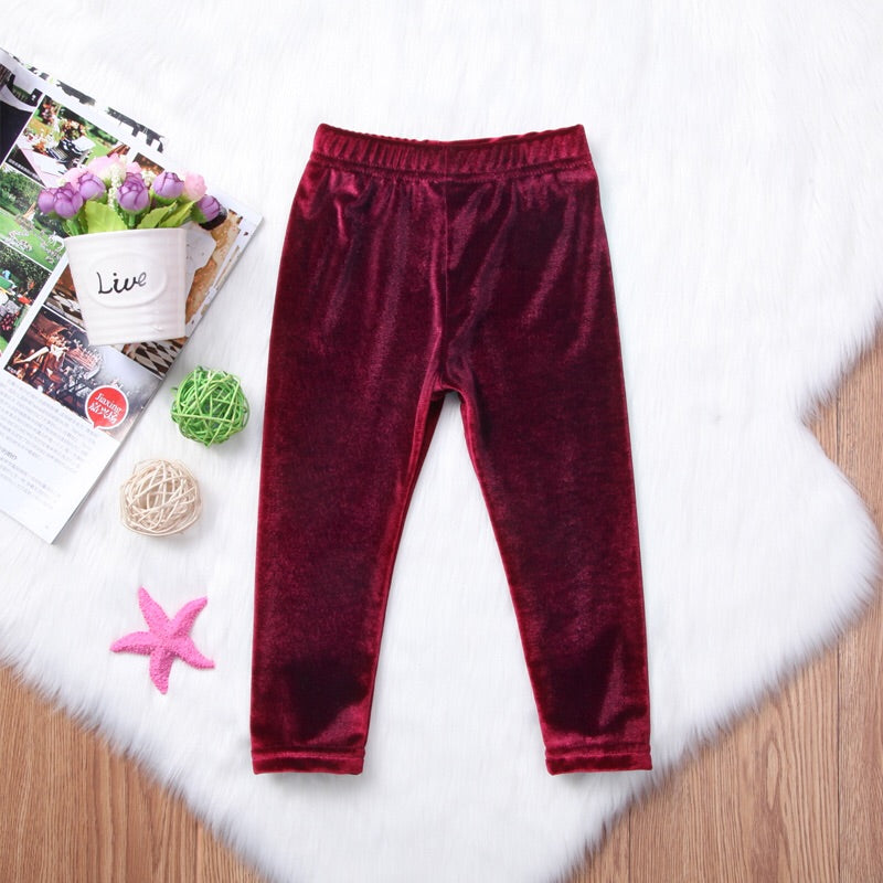Burgundy velvet trouser (9 months- 3 years)