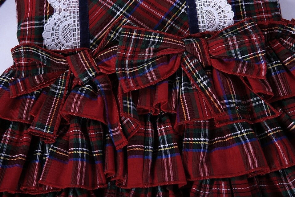 Tartan print boutique dress (2-5 years)