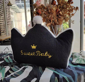 Black sweet baby cushion
