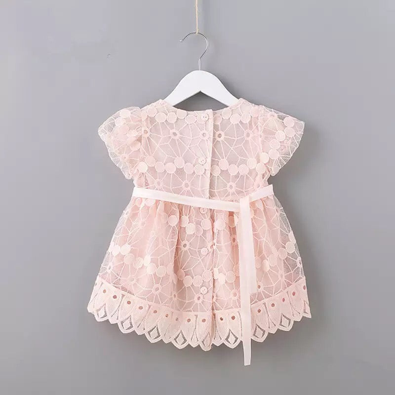 Puff sleeve embroidery dress (6-24 months)