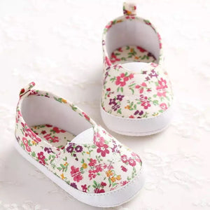 Floral slip on shoes (0-18 months)