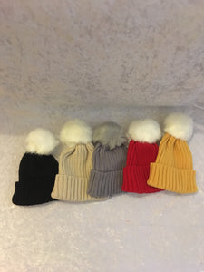 Winter Pom Pom hat - 5 colours