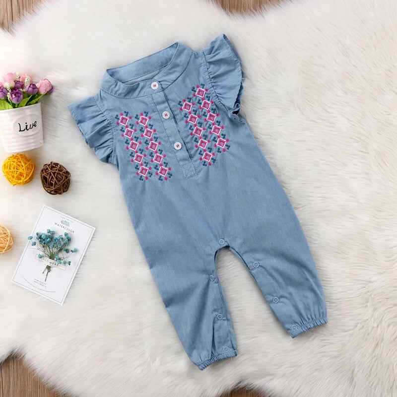 Embroidered jumpsuit (3-18 months)