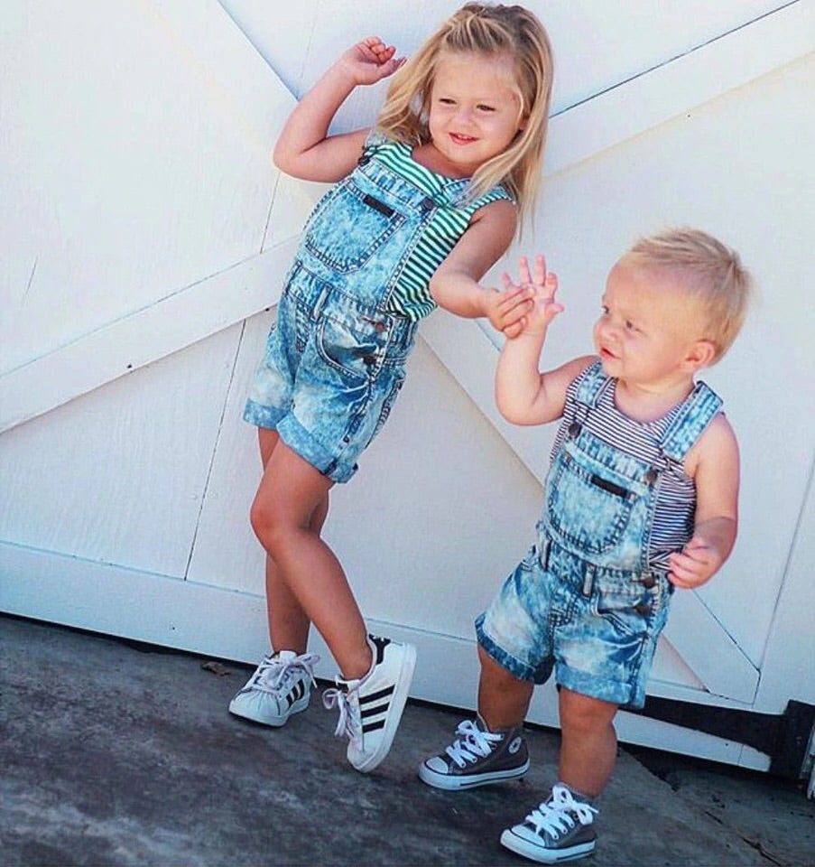 denim short dungaree (12 months- 6 years)