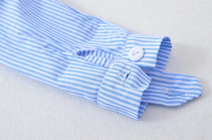 Blue pinstripe top with pink tutu skirt set (6 months- 4 years)