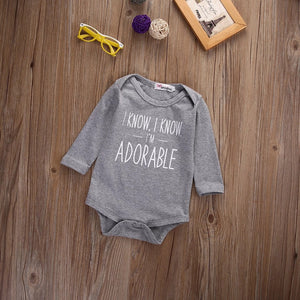 I know I'm adorable bodysuit (0- 18 months)