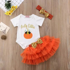 Orange and gold pumpkin set ( 6 months- 3 years)