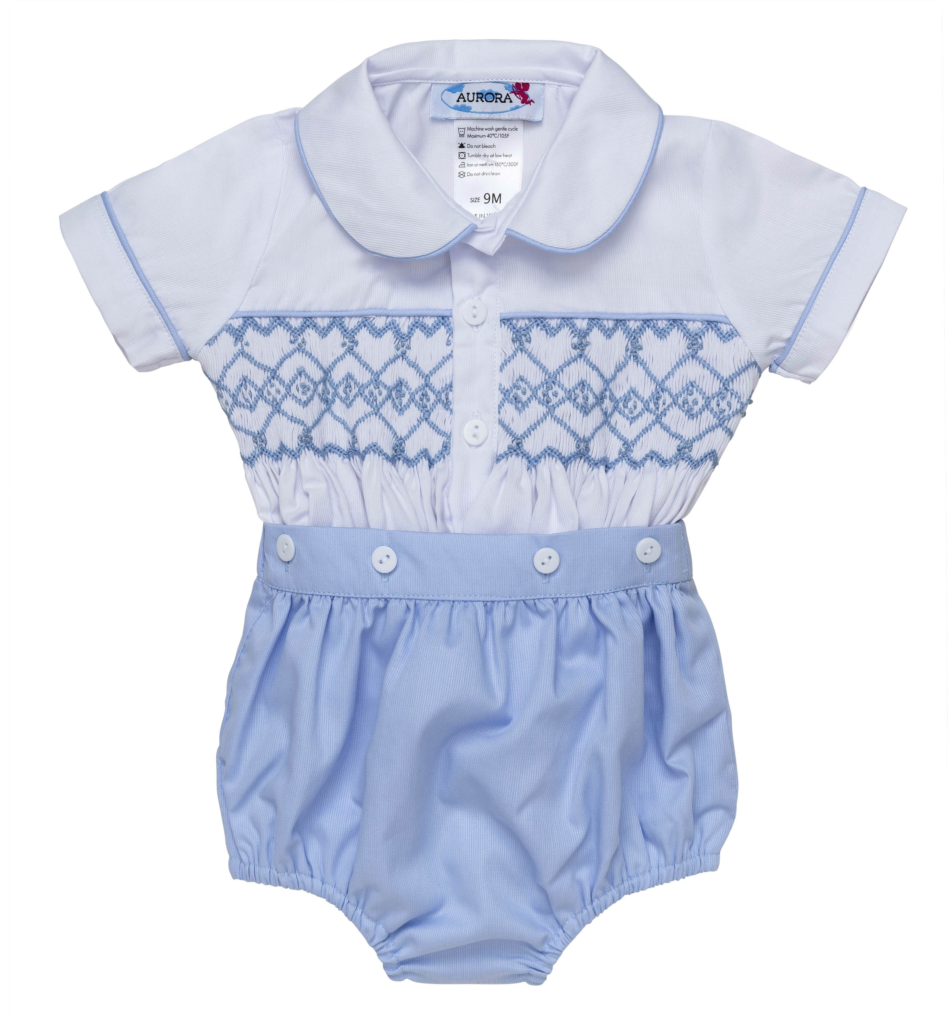 Traditional Hand Smocked Buster Set
