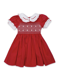 Victoria Hand Smocked Cotton Dress