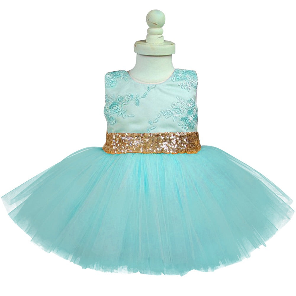 Green sequin bow tutu dress (12 months- 5 years)