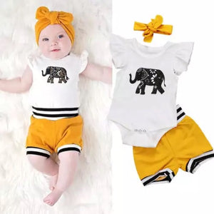 Elephant three piece set (3-18 months)