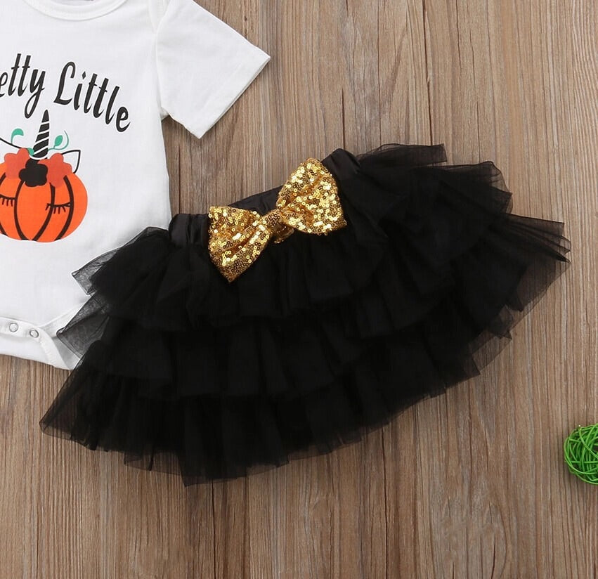 Black and gold pumpkin set ( 3 months- 2 years)