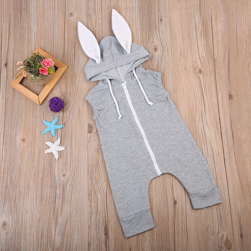 Grey rabbit jumpsuit (0-18 months)