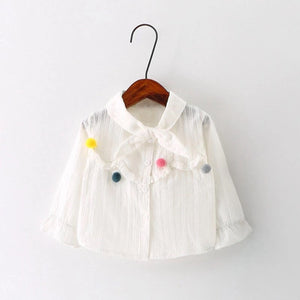 Thin cotton Pom Pom shirt (6-24 months)