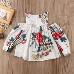 Autumn floral cold shoulder top (6-18 months)
