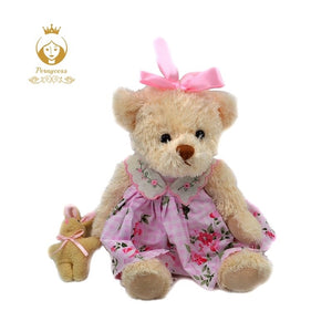 Pink floral teddy