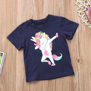 Dancing unicorn t-shirt (18 months- 5 years)