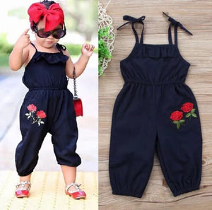 Rose embroidered jumpsuit