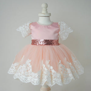 Pink Lolita lace dress (6 months - 6 years )