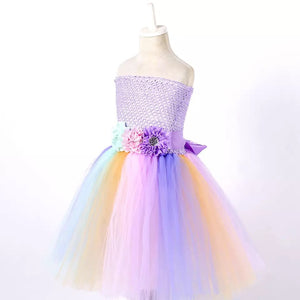 Summer unicorn tutu dress with headband