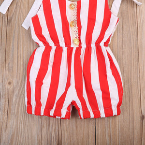 Candy stripe playsuit (0-18 months)