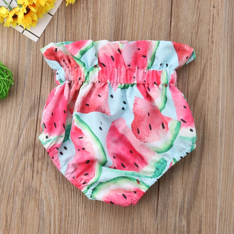 Watermelon print bloomers (3-18 months)