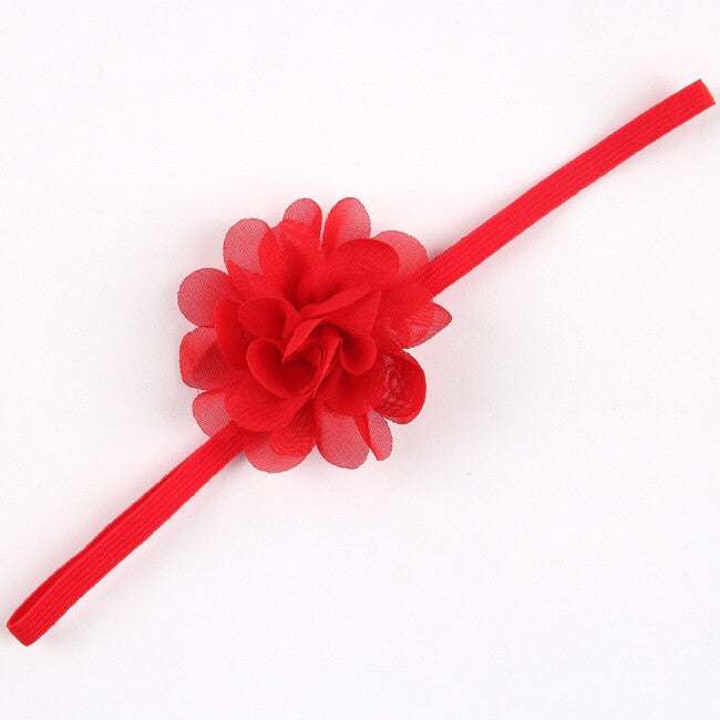Baby girl chiffon flower headband ( only yellow left)