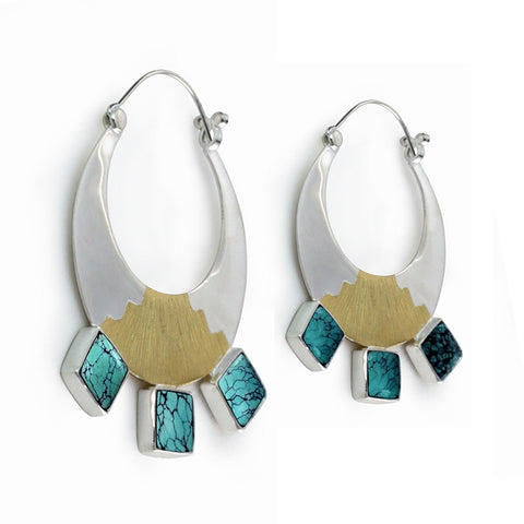Inca's Moonrise Earrings