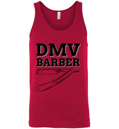 DMV Barber Canvas Unisex Tank