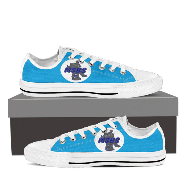 MSBS Logo Light Blue Low Tops