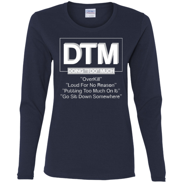 G540L Gildan Ladies' Cotton LS T-Shirt DTM