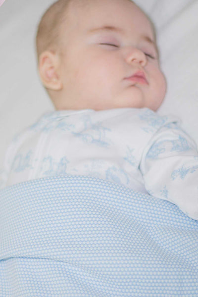 Blue Bubble Baby Blanket | Nella Pima