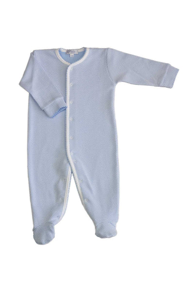 Blue Bubble Baby Footie Bodysuit | Nella Pima