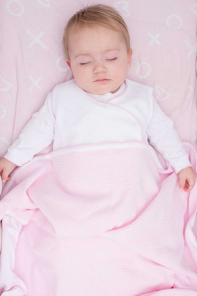 Pink Bubble Baby Blanket