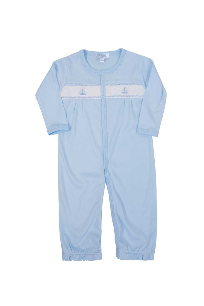 Sailboat Baby Boy Converter Gown | Nella Pima