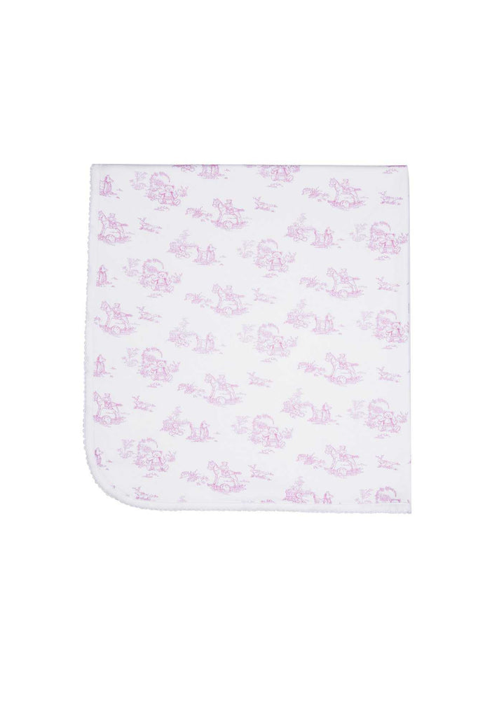 Toile Baby Girl Blanket