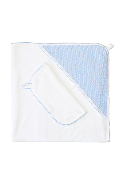 Bubble Hooded Towel -Blue