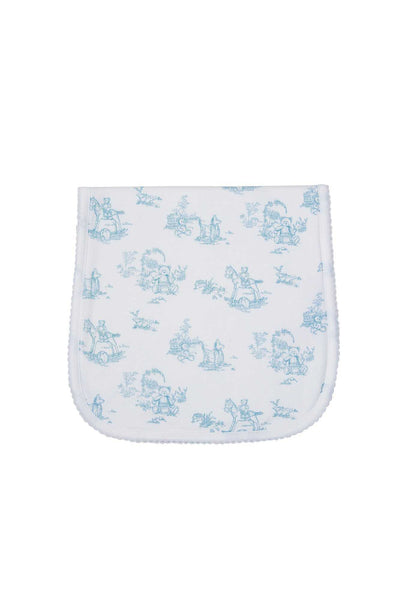 Blue Toile Burp Cloth
