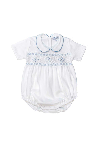 The softest Baby onesies made of pima cotton and hand embroidered details by Nella Pima