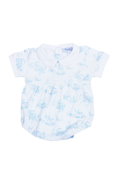 Blue Toile Baby Bubble