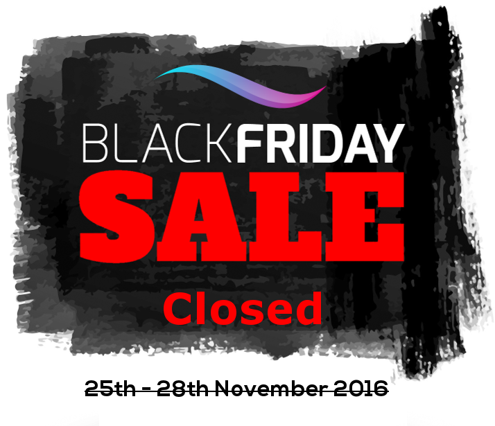 Black Friday Weekend Sale has come to an end