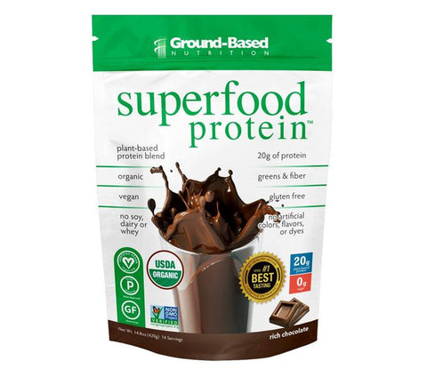 Ground-Based Nutrition Superfood Protein Rich Chocolate