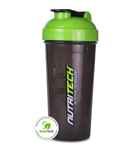 Nutritech 700ml Shaker Cup - Green & Smoked Black