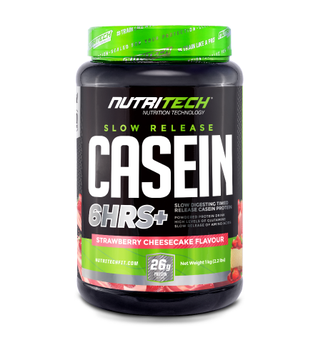 Nutritech Casein Slow Release 6HRS+ Strawberry Cheesecake